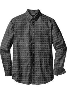 Деловая рубашка Regular Fit (синий/белый с узором) Bonprix