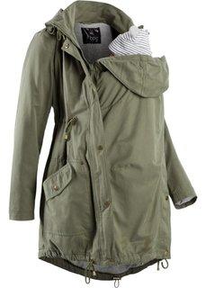 Для будущих мам: куртка-парка со вставкой для малыша и трикотажной подкладкой (черный) Bonprix