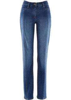 Стрейтчевые джинсы с регулируемым поясом (темный деним) Bonprix