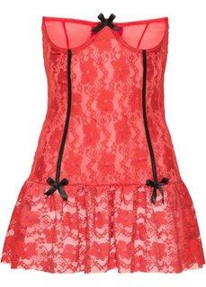 Сорочка с открытыми чашками, чашка D (красный) Bonprix