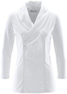 Блузка с шалевым воротом (черный) Bonprix