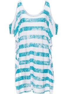 Пляжная футболка (белый/светло-красный в полоску) Bonprix