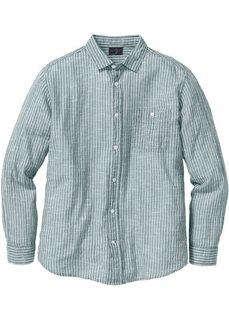 Рубашка Regular Fit в полоску (синий/белый в полоску) Bonprix