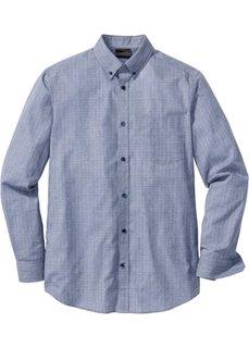 Деловая рубашка Regular Fit (черный/белый с узором) Bonprix