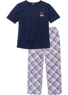 Пижама (темно-синий в клетку) Bonprix