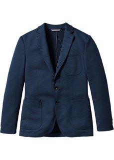 Пиджак Slim Fit из структурного материала, cредний рост (N) (серый) Bonprix
