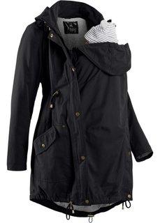 Для будущих мам: куртка-парка со вставкой для малыша и трикотажной подкладкой (оливковый) Bonprix