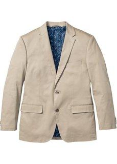 Хлопковый пиджак Regular Fit, cредний рост (N) (темно-синий) Bonprix