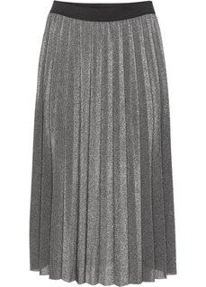 Плиссированная юбка (светло-серый меланж/серебристы) Bonprix