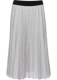 Плиссированная юбка (черный/серебристый) Bonprix
