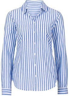 Блуза-рубашка в полоску (дымчато-серый белый в полоску) Bonprix d94ddd174141f