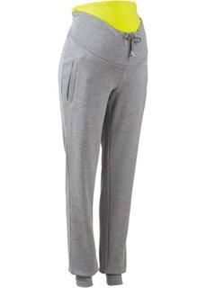 Для будущих и кормящих мам: трикотажные брюки для фитнеса (серый меланж/светло-серый мела) Bonprix