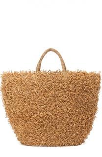 Плетеная сумка Summertime из рафии Sans-Arcidet