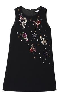 Платье без рукавов с кристаллами Dolce & Gabbana
