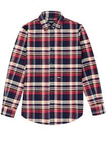 Рубашка из хлопка с рисунком в клетку Dsquared2