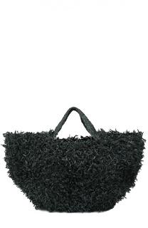 Плетеная сумка из рафии Sans-Arcidet