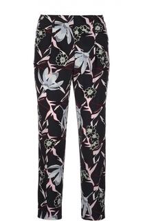 Укороченные шелковые брюки с растительным принтом Dorothee Schumacher