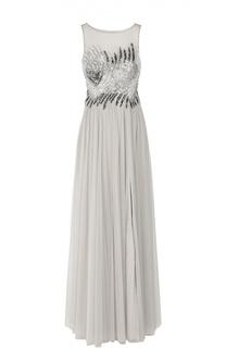 Приталенное платье в пол с вышивкой и открытой спиной Basix Black Label