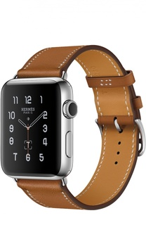 Apple Watch Hermès Series 2 42mm Stainless Steel Case с кожаным ремешком Simple Tour цвета Fauve Apple