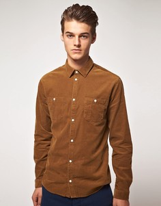 Вельветовая рубашка с двумя карманами Suit - Коричневый