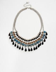 Ожерелье-воротник с бусинами Nali - Черный