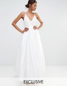 Платье макси со складками и декоративной отделкой A Star Is Born - Белый