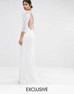 Платье макси с длинными рукавами A Star Is Born - Белый