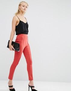 Укороченные зауженные брюки ASOS - Розовый