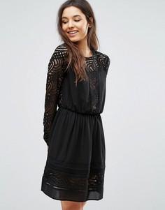 Платье с кружевной отделкой Greylin Aliston - Черный