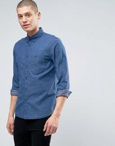 Рубашка из шамбре Nudie Stanley - Синий