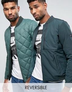 Зеленая двусторонняя дутая куртка-пилот Nike 806831-364 - Зеленый