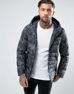 Черная дутая куртка с капюшоном Nike 806857-010 - Черный