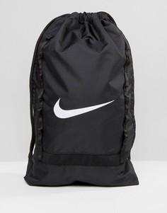 Черный рюкзак с затягивающимся шнурком Nike Brasilia BA5079-010 - Черный