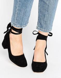 Туфли на каблуке с завязками вокруг щиколотки Kurt Geiger Treacle - Черный
