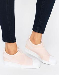 Розовые кроссовки-слипоны adidas Originals Superstar - Розовый