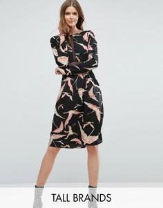 Платье асимметричной длины Vero Moda Tall Mia - Черный