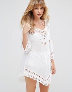 Ажурное пляжное платье-туника Liquorish - Белый