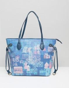Сумка для покупок с принтом Lavand - Синий