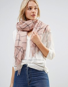 Oversize-шарф в клетку Lavand - Розовый