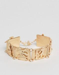 Золотистый браслет с египетском стиле ASOS - Золотой