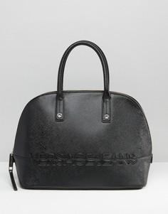 Структурированная сумка-тоут Versace Jeans - Черный