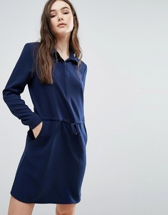 Платье-рубашка с поясом Lavand - Темно-синий