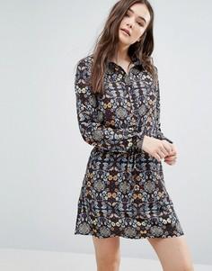 Платье-рубашка с принтом калейдоскоп Lavand - Мульти