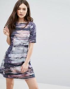 Цельнокройное платье с абстрактным принтом Lavand - Мульти