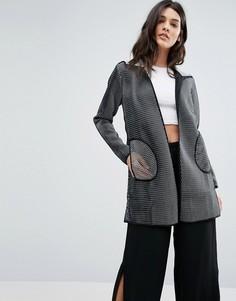 Удлиненная куртка из технической ткани Lavand - Серый