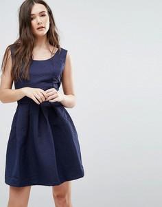Короткое приталенное платье Lavand - Темно-синий
