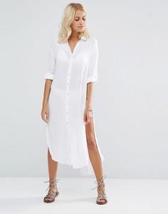 Удлиненная пляжная рубашка New Look - Белый