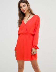 Платье-туника с длинными рукавами Minkpink - Оранжевый