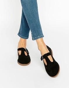 Туфли с Т‑образным ремешком New Look - Черный