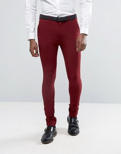 Супероблегающие брюки Rogues of London - Красный